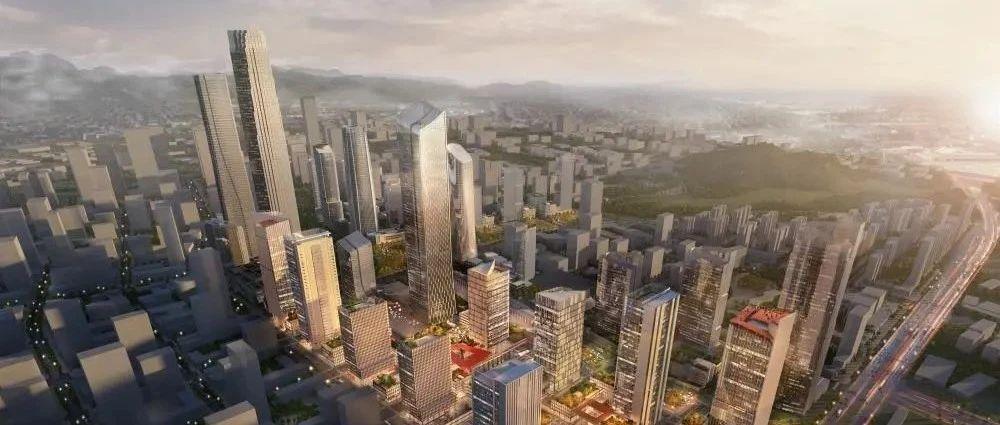 济南国际金融城北区:多栋超高层营造泰山千峰聚拢效果