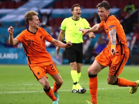 欧洲杯神剧情!荷兰2球领先被追平,3-2险胜乌克兰,飞翼头球绝杀