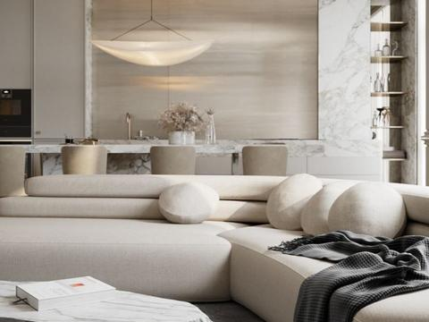 上海年轻夫妻的100多㎡公寓,简约设计,低调奢华有内涵