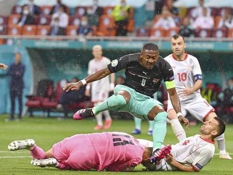 欧洲杯-奥地利3:1北马其顿 阿瑙替补进球 阿拉巴失误后送助攻