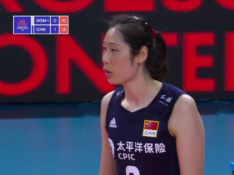 朱婷提前下场,张常宁李盈莹齐闪光,中国女排3-1取胜多米尼加
