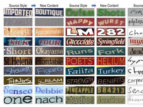 FacebookAI可以深度伪造图像中的文本样式