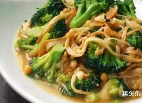 美食推荐:金针菇炒西兰花,蒜苔炒肉丝,西红柿肉丸汤,韭菜豆皮