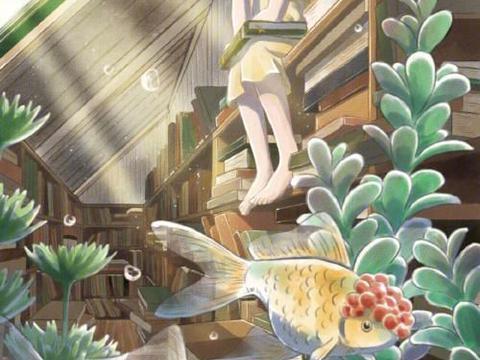 宫崎骏画风~藏书阁楼的那一缕梦想