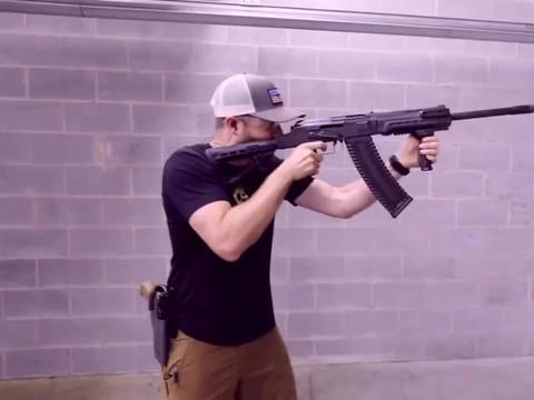 KS12T霰弹枪,配备大容量弹匣,室内靶场射击评测!