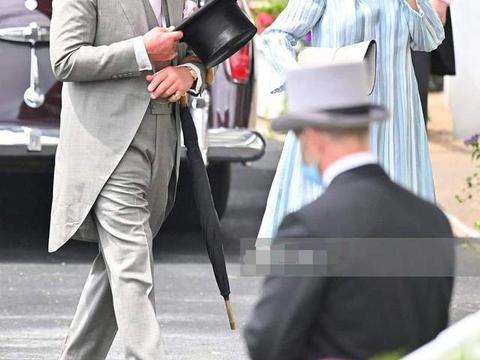 赛马会首日女王突然缺席,卡米拉仪态不佳,安妮公主中国风抢风头