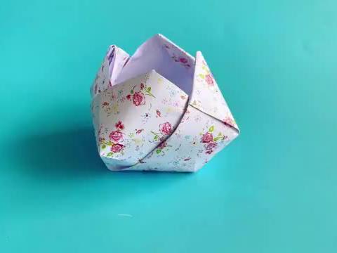 教你折纸圣安娜碗,简单易学,生动形象