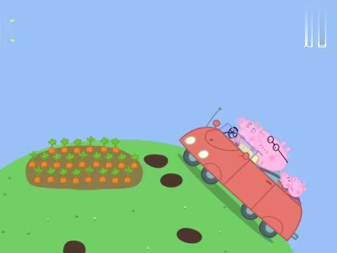 小猪佩奇:瑞贝卡家的房子在哪,山坡都是些胡萝卜,难道是在地下