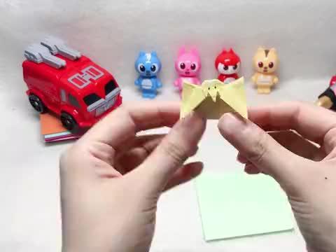 迷你特工队益智折纸,一只超可爱的破壳小鸡!