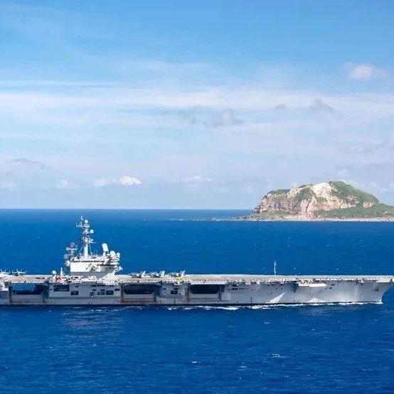 """美军""""里根""""号航母经由巴士海峡进入南海 赶赴中东"""
