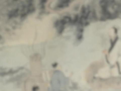 国画精赏:明 唐寅 烧药图 - 唐伯虎为肺病寻医,答谢医师之作