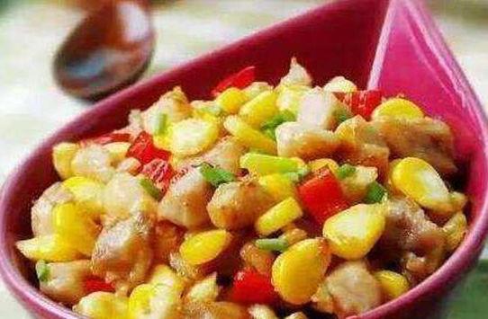 美食推荐:玉米炒鸡丁,香葱腰花,手撕鸡,辣子肥肠的做法