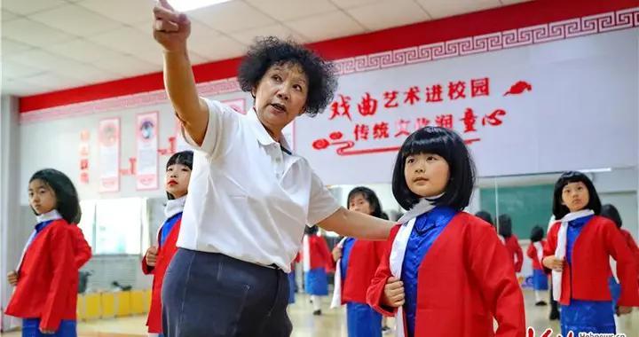 河北秦皇岛海港区:红色戏曲进校园 共迎建党100周年