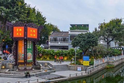 广州旧城河涌是展现出岭南水乡画风的城市传统文化地标
