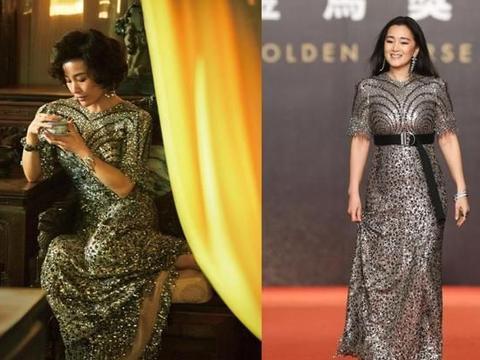 当54巩俐与59岁陈冲同穿亮片裙,都是女王的气场,气质却大不相同