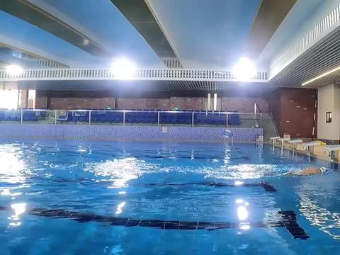 中游体育:自由泳滚翻转身动作示范及技术要点