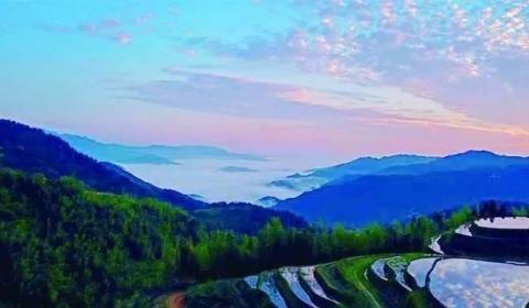 """在江西,有一座神秘的梯田小村庄,被称为""""连天梯"""""""