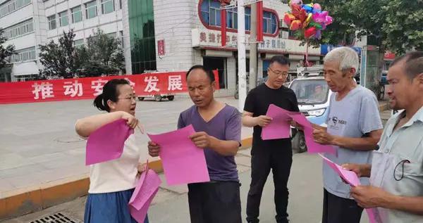 惠民县胡集镇开展安全生产月宣传咨询活动