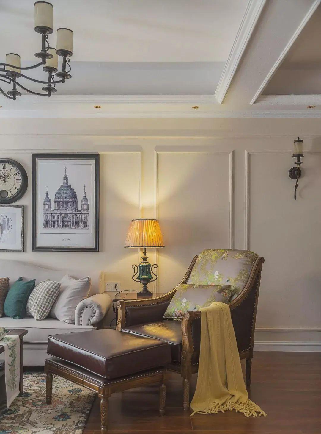 98㎡优雅美式三居室,一楼带超大私人花园,入住堪比小别墅