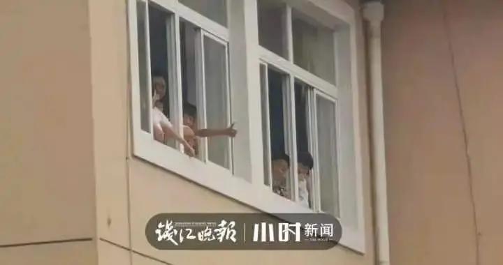 台州这一幕喊楼太暖心了
