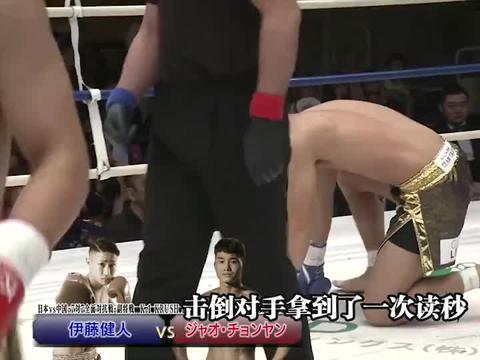 岛国拳手叫嚣日本格斗远超中国,被一龙弟子飞膝爆头,昏迷不醒