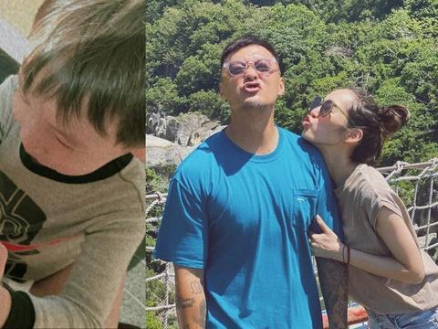 余文乐老婆王棠云晒女儿萌照,两兄妹互动超有爱