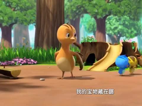 萌鸡小队:麦奇寻找宝物,结果找到了一个包裹,里面居然是小宝宝
