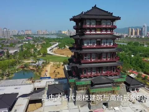 汉中的标志性建筑天汉楼,高度69.45米,总投资5.6亿元