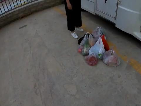采购满车的食物,妹子自驾房车,准备穿越塔克拉玛干大沙漠