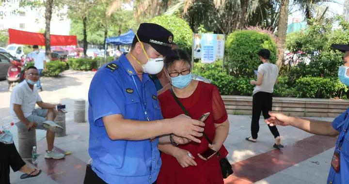 东莞长安城管分局全力支援核酸检测工作