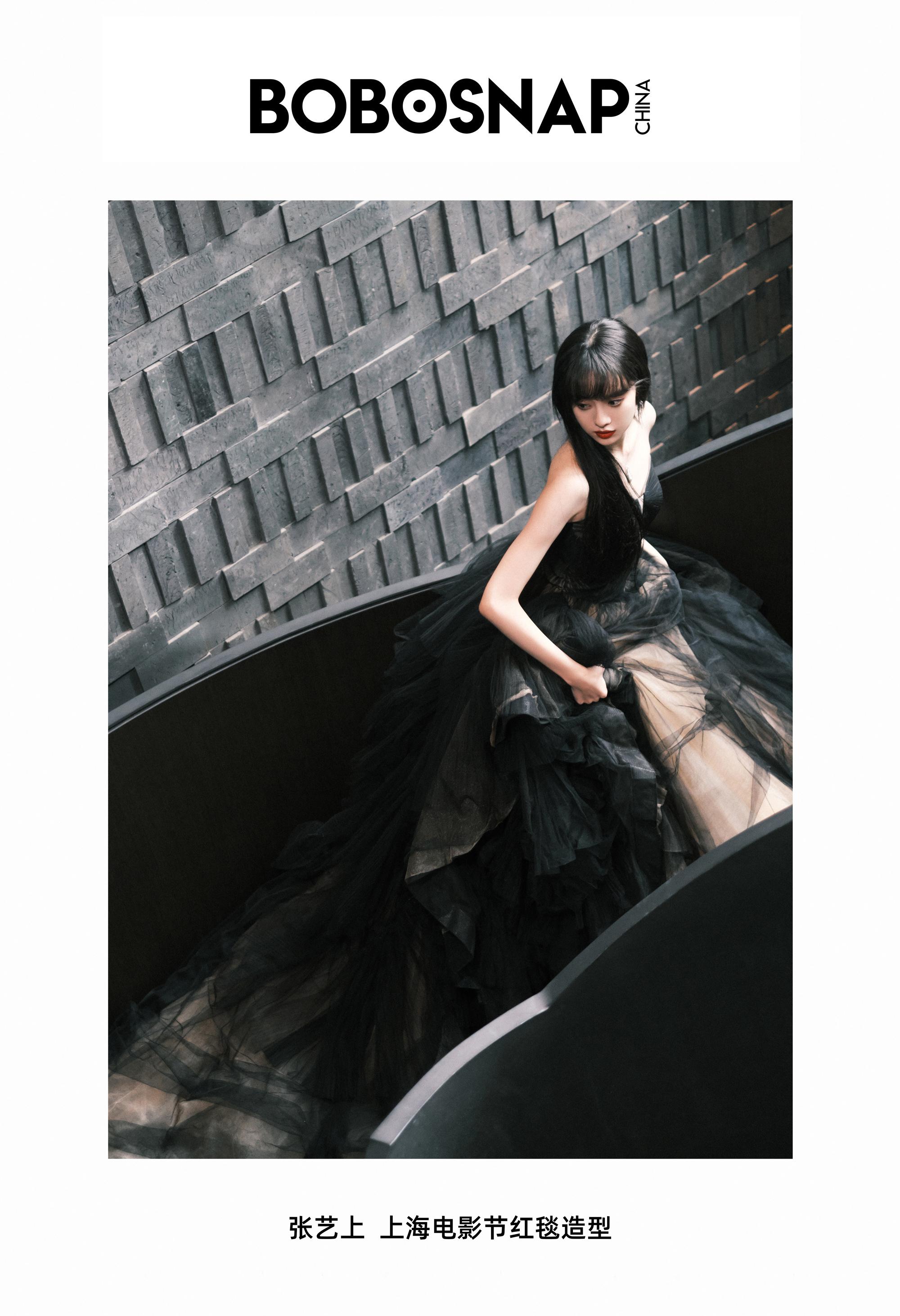 张艺上 上海电影节红毯造型 裙装:Grace Kelly x CHRISTOPHER……