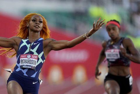理查德森美国奥运选拔赛创10秒86 半决赛超风速飚出10秒64
