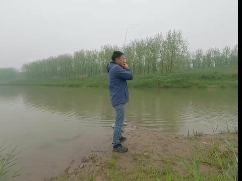 放牛哥玩路亚运气神了,这么浅的小河钓起来如此巨物鳜鱼