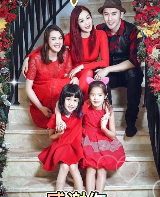 钟丽缇晒全家福为张伦硕庆父亲节,3个女儿围身边,个个颜值能打