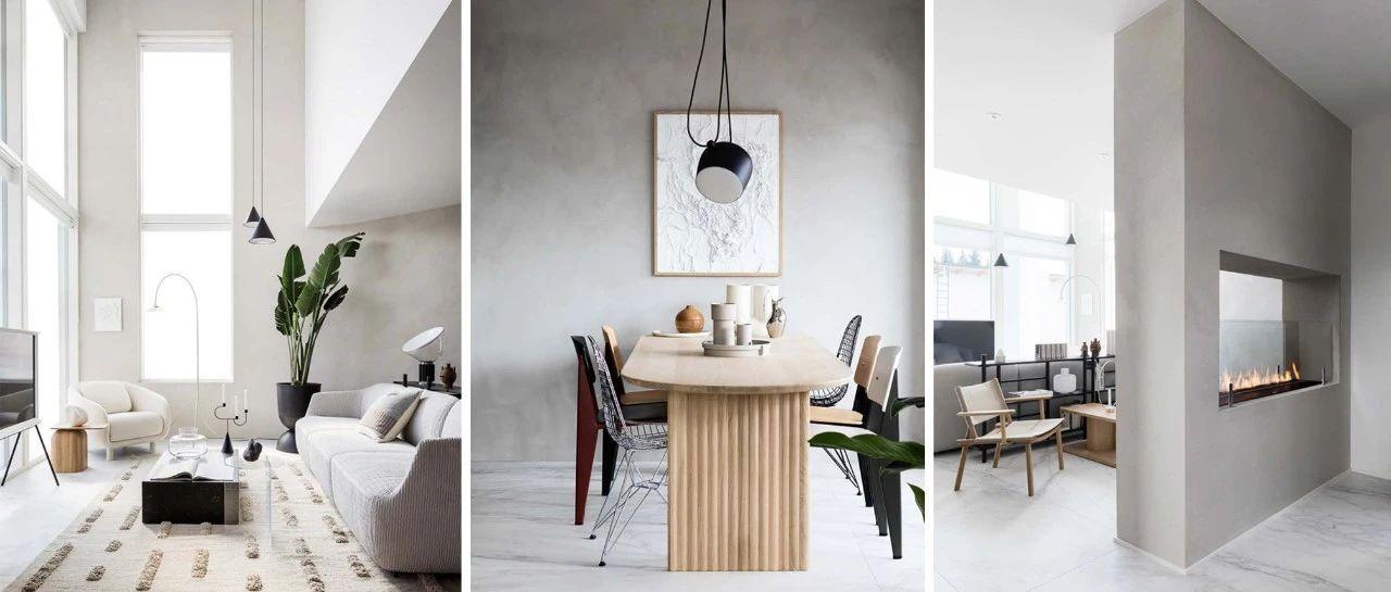 极简风设计,挑高客厅显大又敞亮!