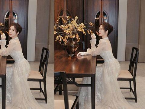 33岁王晓晨太美了,穿网纱裙营业似城堡公主,打扮惊艳马蜂腰抢镜