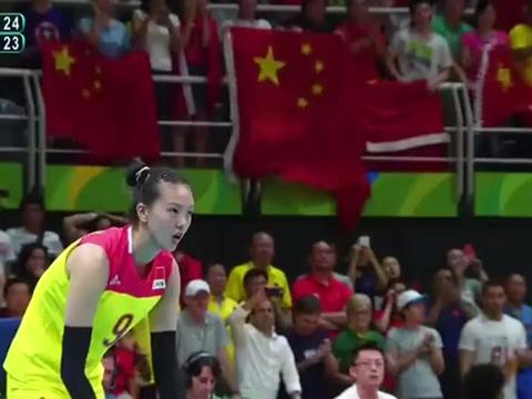 中国女排 惠若琪最经典的一球,帮助女排 夺得里约奥运会冠军!