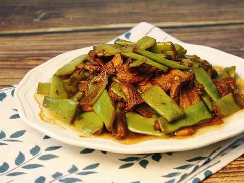 牛肉炒扁豆丝