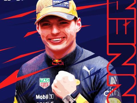 F1法国站-维斯塔潘倒数第2圈超车夺冠 小汉亚军落后12分
