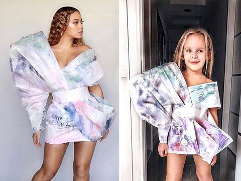 为了满足女儿的设计师梦想,母亲利用废弃塑料,给女儿做时装