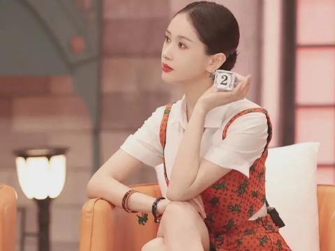 """王子文""""撞衫""""赵丽颖,同样的橘黄印花裙,哪种风格让你心动了?"""