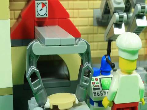 乐高积木拼搭比赛餐厅玩具