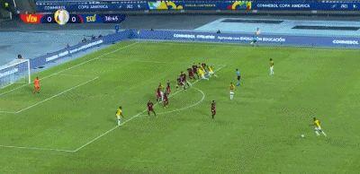 美洲杯开赛最精彩的对决:委内瑞拉2-2厄瓜多尔,四个进球很漂亮