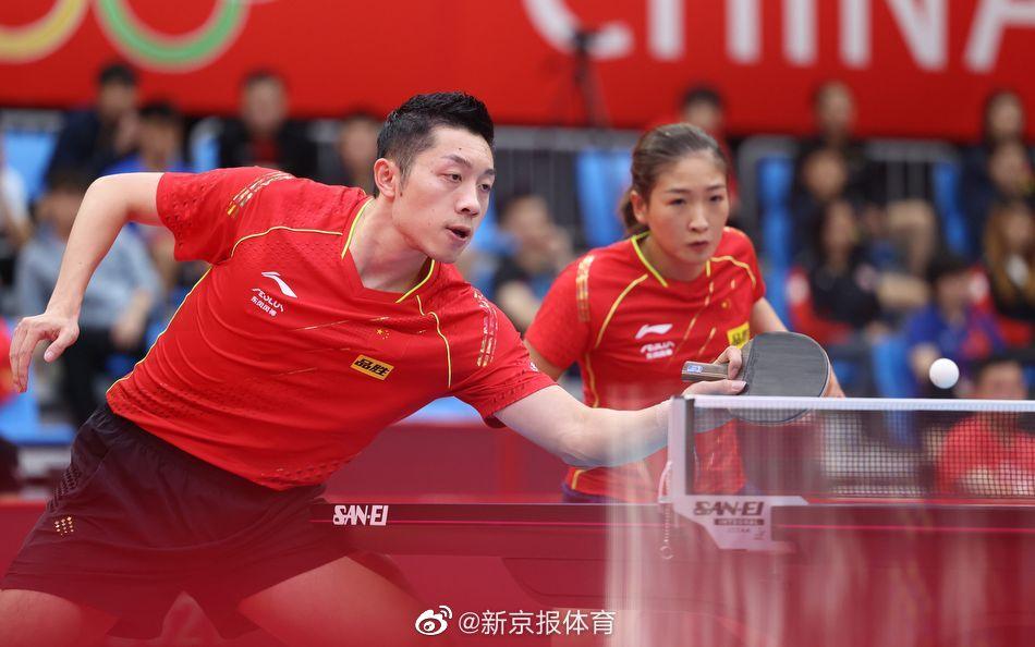 国乒奥运热身赛:许昕/刘诗雯混双两连胜