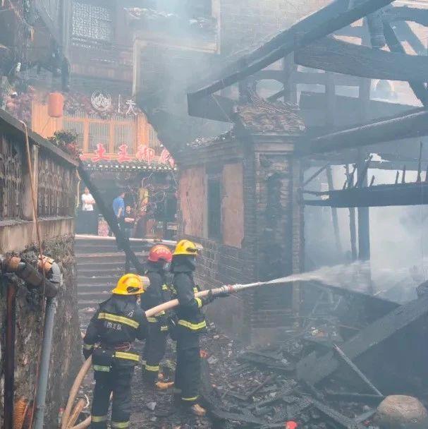网传湖南芙蓉古镇景区发生火灾?假的