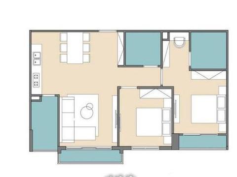 """78㎡""""去客厅化"""",扔掉沙发靠墙打5cm高地台,一家5口越住越宽敞"""