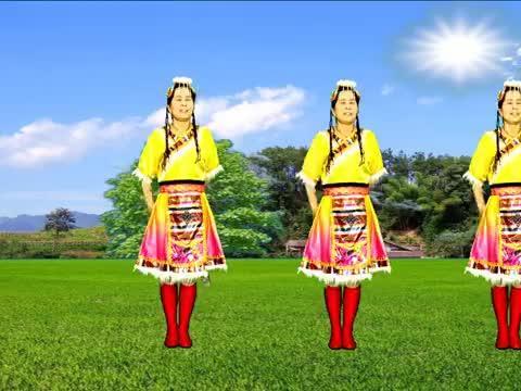 高原天籁广场舞《天边花正香》大气飞扬,32步简单又好看