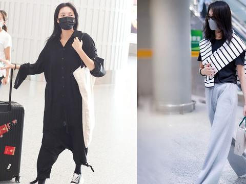 """青年女演员""""王紫璇""""穿西装很有御姐范,一身黑色穿搭,好高级"""