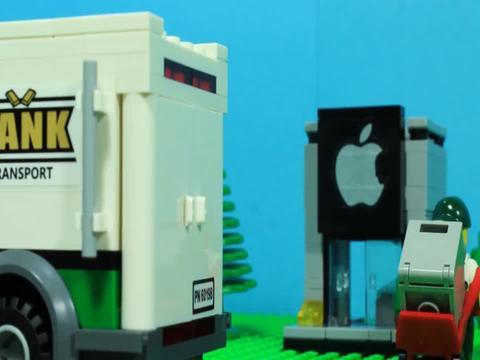 乐高小警车安装积木工具变形装载机玩具