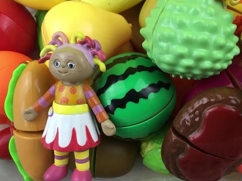 花园宝宝和咔宝蛋神玩切水果玩具